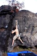 Rock Climbing Photo: Tossing for the shelf.