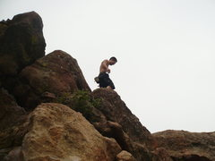 Rock Climbing Photo: walk it out