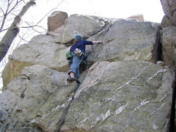 Rock Climbing Photo: First sport lead; set up by a friend using pro @ S...