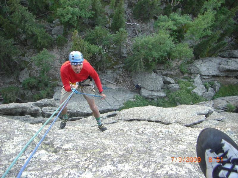 Rock Climbing Photo: heading down