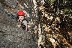 Rock Climbing Photo: 2-1/2 year old Bryson enjoys the stellar climbing ...