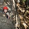 2-1/2 year old Bryson enjoys the stellar climbing at Bishops Peak, in San Luis Obispo.  (September 2009)