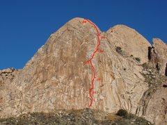 Rock Climbing Photo: Elephantiasis route line