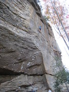 Rock Climbing Photo: Mike onsighting Jesus Wept.