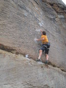 Rock Climbing Photo: Triple Sec begins with big sequential moves betwee...