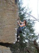Rock Climbing Photo: Working through the bouldery start.