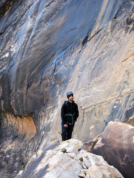 Jonny at Black Arch Wall; Oak Creek Canyon, Red Rock.<br> <br> (Taken 11/15/09)