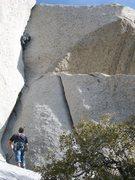Rock Climbing Photo: pullin the bong