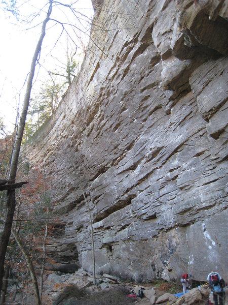 Rock Climbing Photo: The Midnight Surf cliffband.