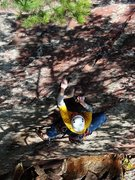 Rock Climbing Photo: Thoroughfare, Oct 09.  Onsighted it, came down, an...