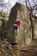 Rock Climbing Photo: Nameless Arete, November 08, photo Brian Runnells.