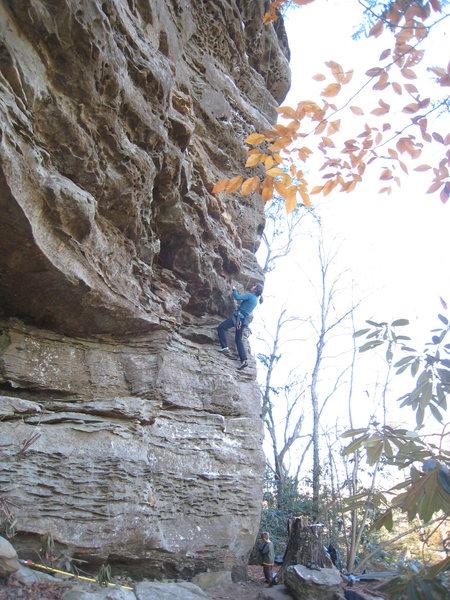 Rock Climbing Photo: Warming up on Capt Blonde.