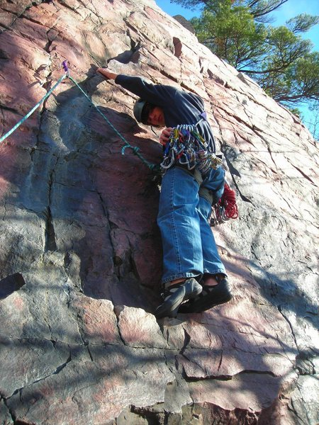 Rock Climbing Photo: Dillon on-sight leads Watermarks on crisp clear No...