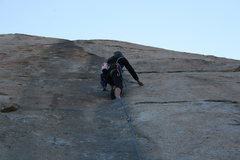 Rock Climbing Photo: me, leading the Trough, just past 2nd bolt