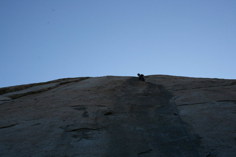 Rock Climbing Photo: setting the anchor at the 1st belay station