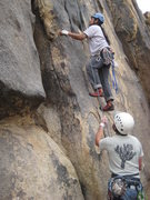 Rock Climbing Photo: Al getting started on Crack Dream (5.8)