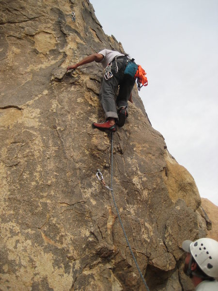 Rock Climbing Photo: Al higher up on What's the Point