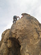 Rock Climbing Photo: Al topping out on What's the Point