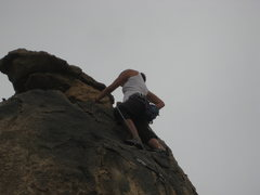 Rock Climbing Photo: me almost topped out on Crown of Thorns (5.9*)
