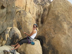 Rock Climbing Photo: giving Nate a belay
