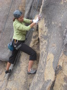 Rock Climbing Photo: me working Crack Dream
