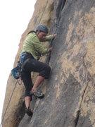 Rock Climbing Photo: me higher up on Crack Dream
