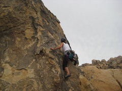 Rock Climbing Photo: me leading Crown of Thorns (5.9*)