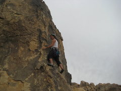 Rock Climbing Photo: me working Crown of Thorns