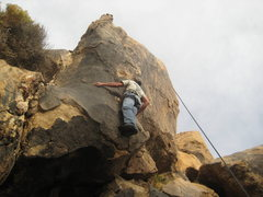 Rock Climbing Photo: Nate on The Owl