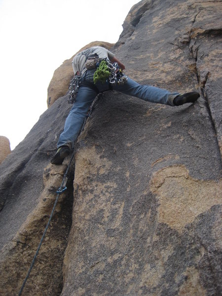 Rock Climbing Photo: Nate spanning on Crack Dream