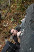 Rock Climbing Photo: Aaron setting up.