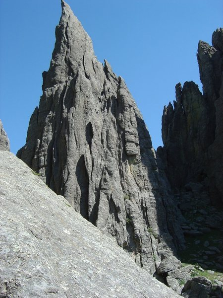Rock Climbing Photo: Such a cool rock spire!  Shot from 2005.