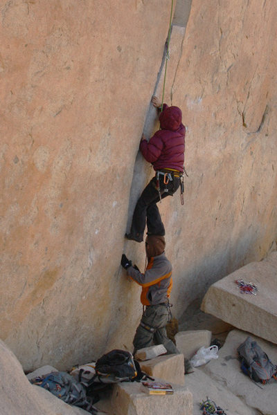 Rock Climbing Photo: The proper way to get past that little nuisance at...