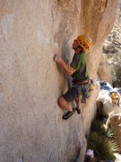 Rock Climbing Photo: Luke starts up Hidden Arch.