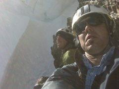 Rock Climbing Photo: Steve and I on Ice Mountain under a large cornice ...