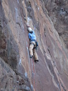 Rock Climbing Photo: Lisa Apprill P1 dialing in the gear where the old ...