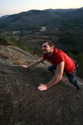 Rock Climbing Photo: Jeff finishing up a sunset solo of Clip a dee doo ...