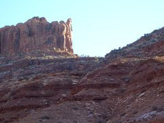 Rock Climbing Photo: Looking up at the Warrior from Long Canyon Road.