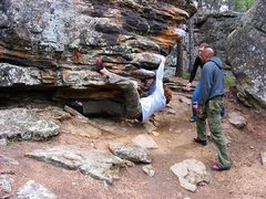 Rock Climbing Photo: Jay on the Jug Haul, as we referred to it.  April ...