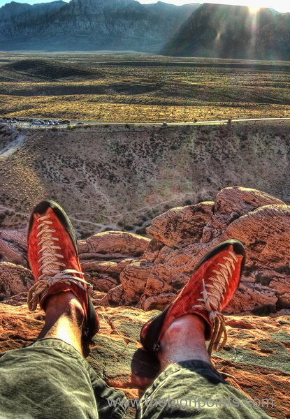 "When I try to explain rock climbing to non climbers I always get the same questions and comments; ""You're insane, that what Tom Cruise did, you must have a death wish"" etc.<br> <br> Nothing could be farther from the truth of course.<br> I could drone on for hours about what I personally get from rock climbing but this image sums it up much better; about 250 feet above the car and with the cell phone turned off, I'm sitting out in the warm sunshine of a late November afternoon enjoying a snack without a care in the world.<br> <br> This is why I rock climb. It's not about cheating death or any other macho bullshit, it's about getting out of the house and enjoying some fresh air, and that's it.<br> <br> Your experience may differ.<br> <br> Welcome to your public lands, now go outside!<br> <br> 10 frame HDR from the Powershot running chdk"