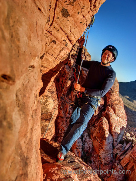 Rock Climbing Photo: My man Brent about to do the 100' rappel into the ...