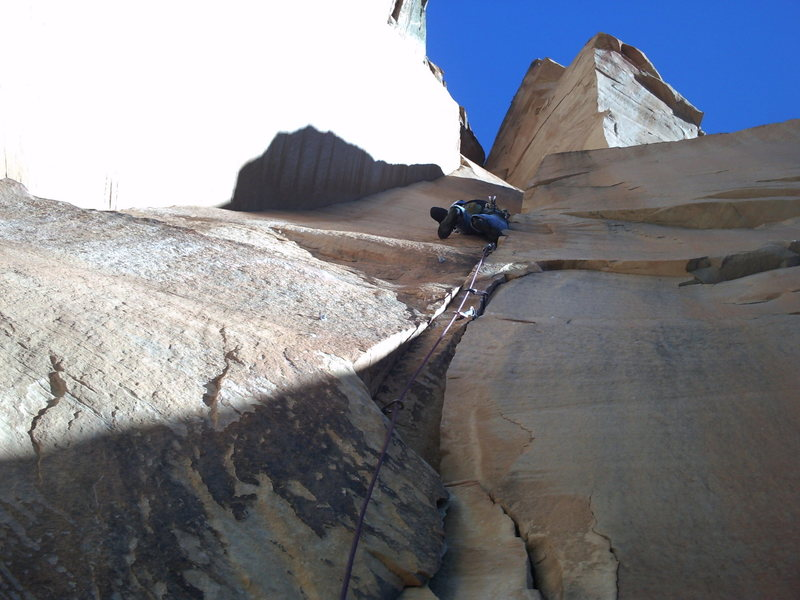 Rock Climbing Photo: Another picture taken of Mike on the climb (taken ...