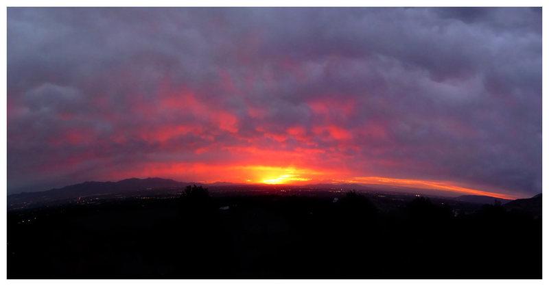 SLC sunset from Ferguson Canyon.