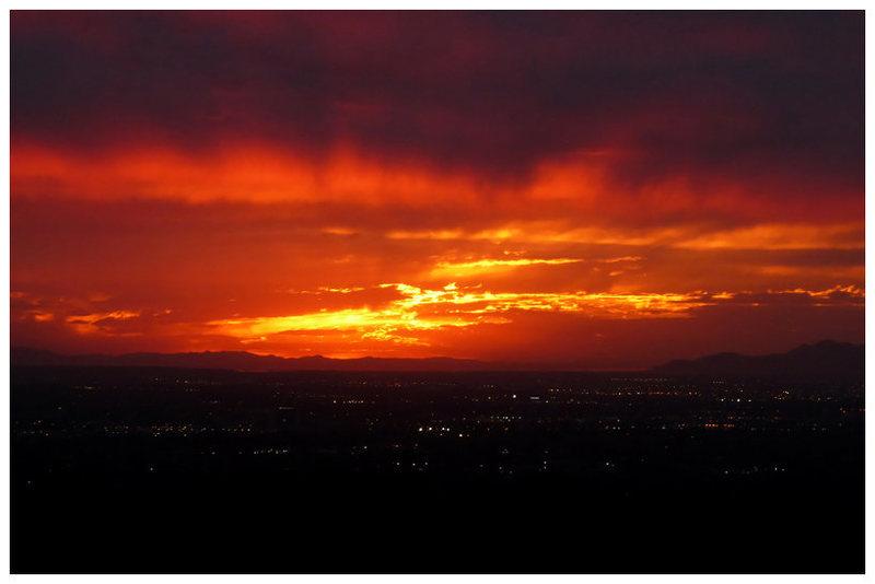 SLC sunset from Ferguson Canyon (again).