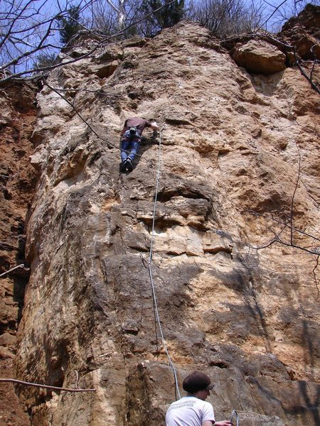 Rock Climbing Photo: Fun route.  Picture from Spring 08'.
