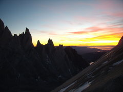 Rock Climbing Photo: Sunrise from Cerro Standhart.  2009