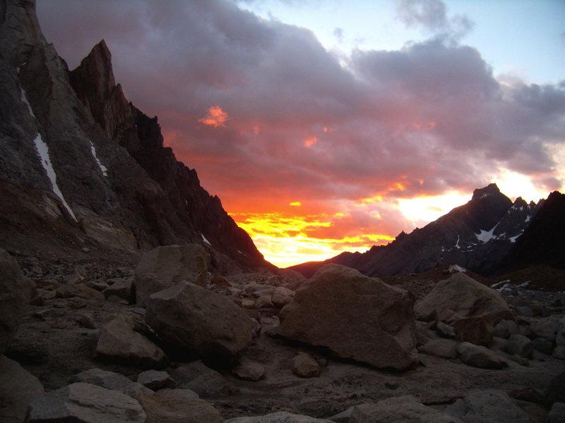 Sunrise from Nipo - Nino camp.  2009