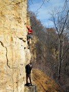 Rock Climbing Photo: Anatomy of the buttshot. Henning and John on Cockb...
