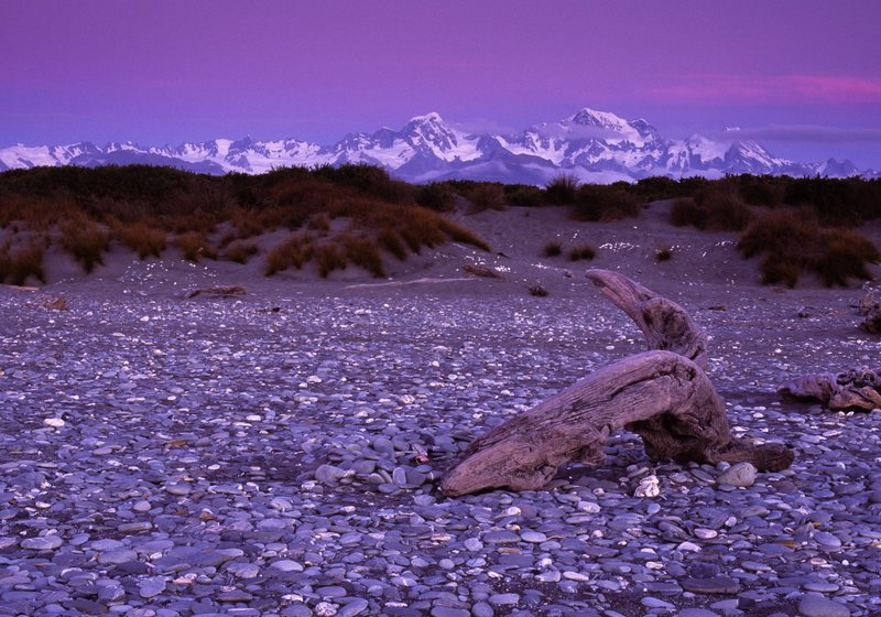 Sunset, Southern Alps, New Zealand