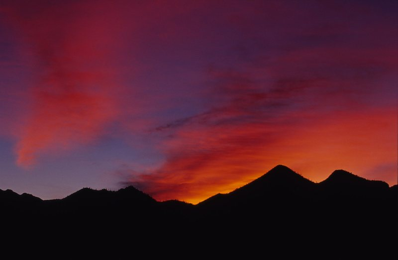 Sunrise, Tucson Mountains